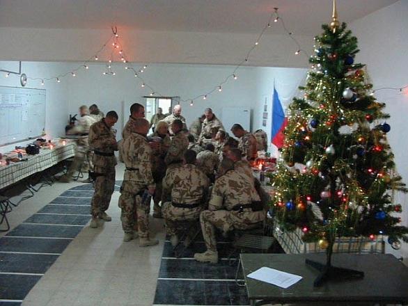 Vánoce čeští vojáci