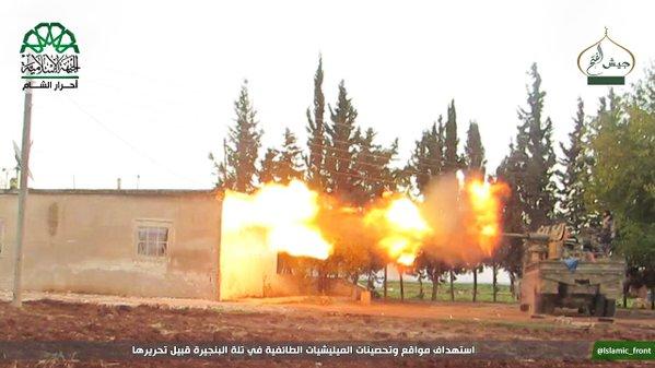 bojovníci ze skupiny ahram aš-šam v okolí aleppa