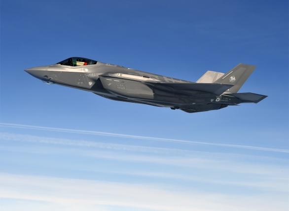 Foto: Italský F-35A Lightning II; větší foto / Public Domain