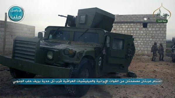 ukořistěné humvee frontou an-nusra