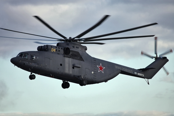 Foto: Mi-26 ma moskevské výstavě MAKS 2013; větší foto / Vitaly V. Kuzmin; CC BY-SA 4.0