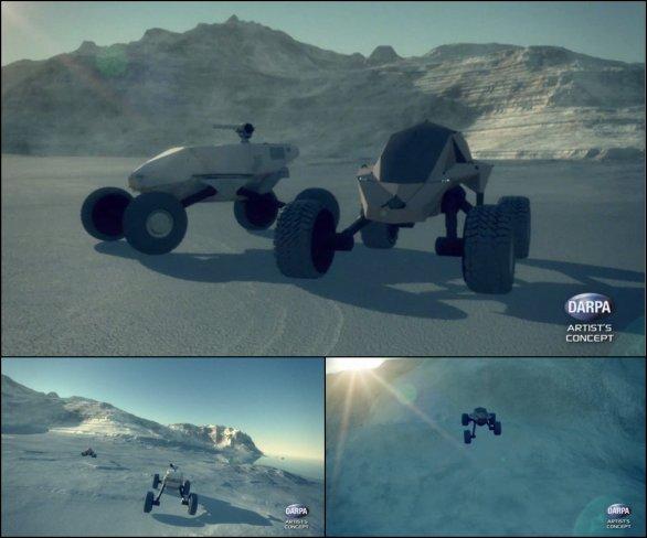 Foto: Motivační animace má zástupcům průmyslu ukázat možné koncepty budoucích armádních vozidel. / DARPA