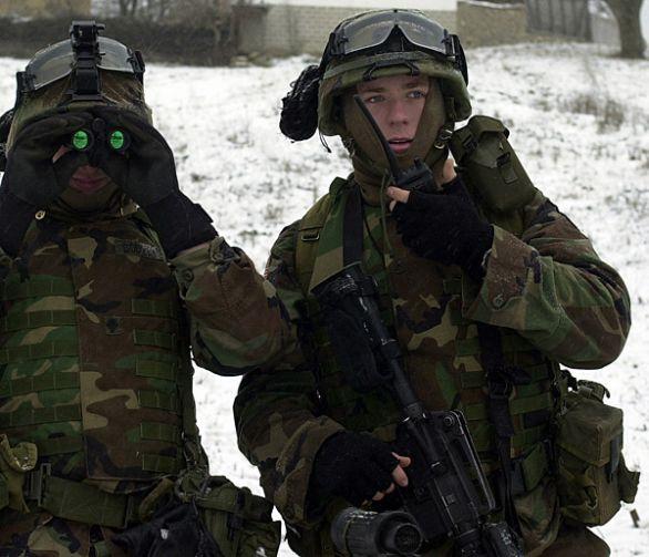 Americký voják v roce 2001