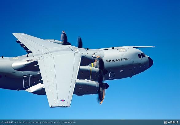 Foto: A400M Královských vzdušných sil Velké Británie. / Airbus