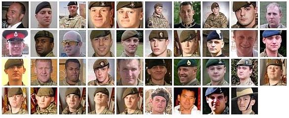 britští vojáci 2012