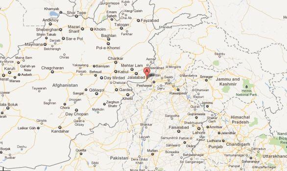 mapa Afghánistán