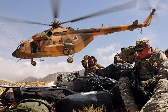 Afghánský vrtulník Mi-17V5