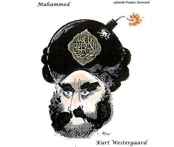 Foto: Karikatur proroka Mohameda. / Jyllands-Posten