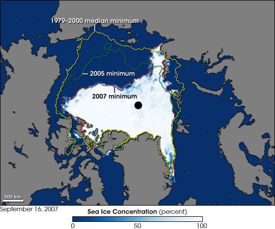 Tání ledu na Arktidě