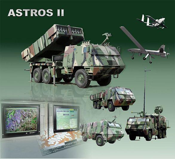 Foto: Raketový systém Astros II vyžaduje řadu vozidel. / Avibras