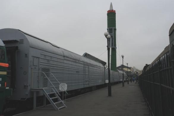 Foto: Bojový železniční raketový komplex 15P961 Moloděc. /  George Shuklin, CC BY-SA 2.5