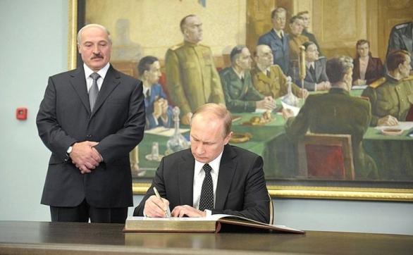 : Alexandr Lukašenko a  Vladimir Putin
