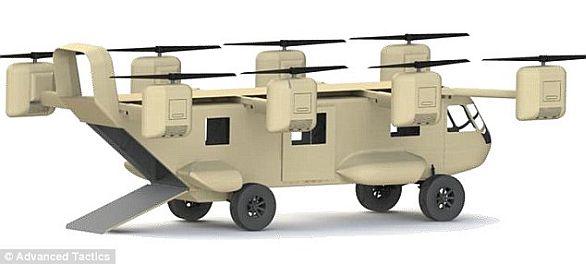 Foto: Možná podoba budoucího robotického evakuačního prostředku. /  Advanced Tactics