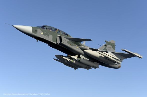 Foto: JAS-39 E/F Gripen v barvách brazilského letectva. / Saab