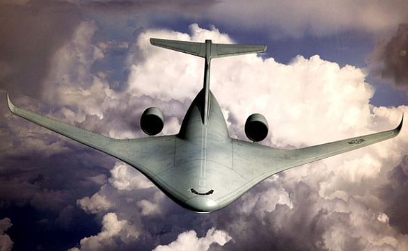 Foto: Vize letounu amerického letectva se splývajícím křídlem a trupem. / Lockheed Martin
