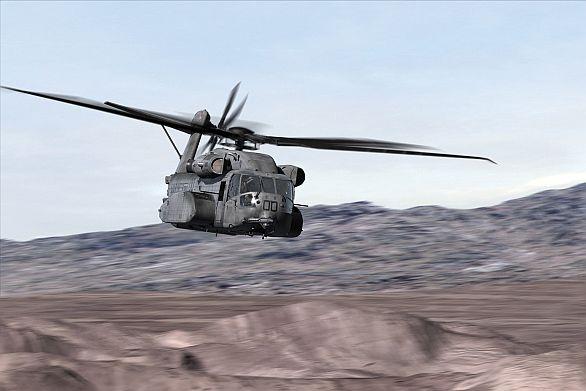 Foto: Grafická představa vrtulníku CH-53K za letu / Sikorsky