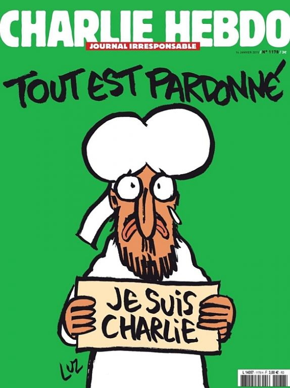Foto: Obálka posledního čísla satirického magazínu Charlie Hebdo. /  Charlie Hebdo