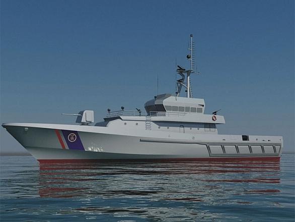 Foto: Vizualizace nového plavidla chorvatské pobřežní stráže. /