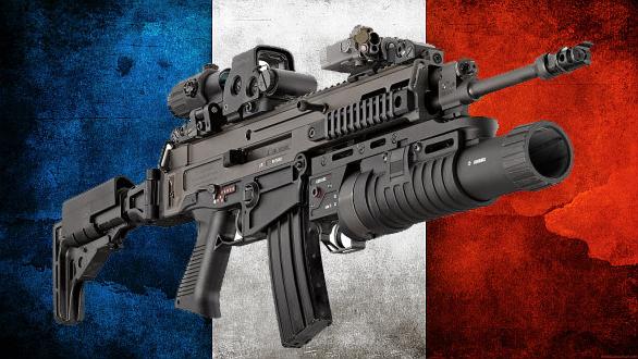 Foto: CZ 805 BREN (případně CZ 807 BREN) pro francouzskou armádu? / Grafika Armádních novin