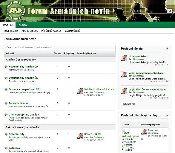 Dislkuzní fórum a Blog Armádních novin