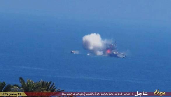 Foto: Útok na egyptskou válečnou loď. / YouTube