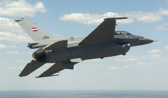 Foto: Irácká stíhačka F-16IQ. / U.S. Air Force