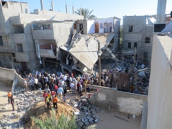 Gaza bombardování