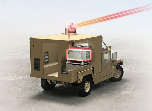Foto: Program GBAD (Ground-Based Air Defense) se stane základem pro budoucí mobilní protivzdušný laserový systém. / Raytheon