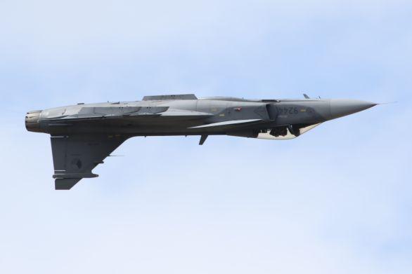 Český JAS-39 Gripen během dynamické ukázky
