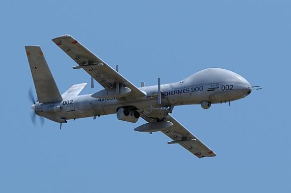 Foto: Izraelský bezpilotní letoun Hermes 900. / Elbit Systems