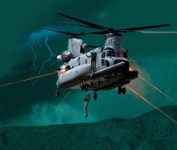 Foto: HH47 – Náladový obrázek vrtulníku HH-47 zprojektu CSAR-X. / Boeing