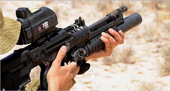 """Foto: MPRS(Multi Purpose Rifle System)pod puškou TAR-21 """"Tavor"""". / IMI"""