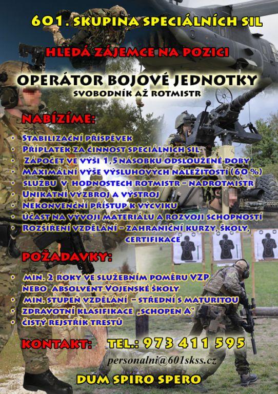 Výběrové řízení k 601. skupině speciálních sil