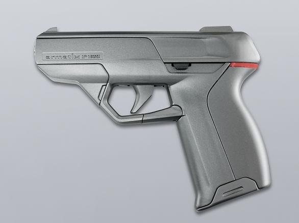 Foto: iP1 má futuristický vzhled. Zadní vícebarevné LED světlo může signalizovat více střeleckých módů. / ArmatixGmbH