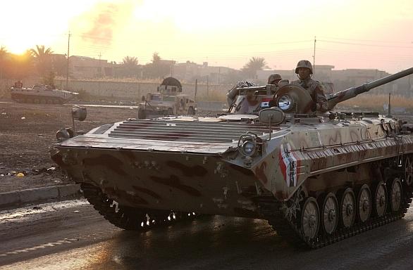 Foto: Irácké bojové vozidlo pěchoty BVP-1; ilustrační foto / Martin K. Newton, U.S. Navy