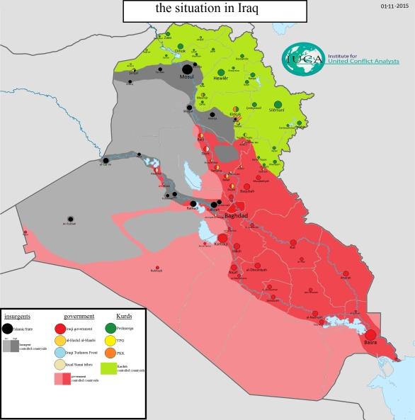 Foto: Situace v Iráku, 1.11.2015; větší foto / United Conflict Analysis