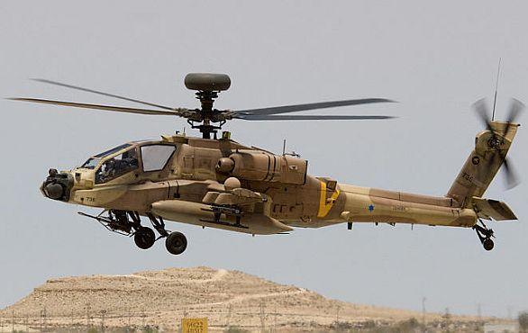 Foto: Izraelský vrtulník AH-64 Apache / IDF