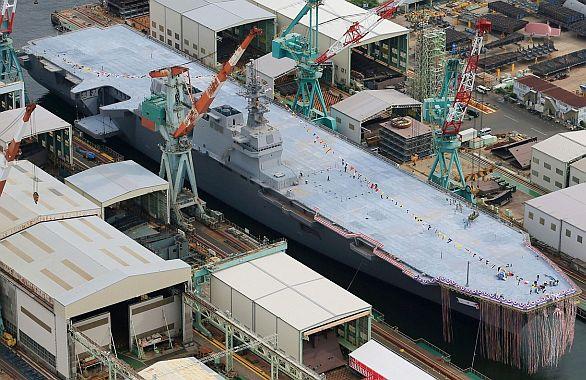 Foto: Rozestavěná loď Izumo / AP