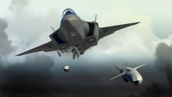 Foto: Vizualizace odpalu JSM ze stíhačky F-35; větší foto / Raytheon