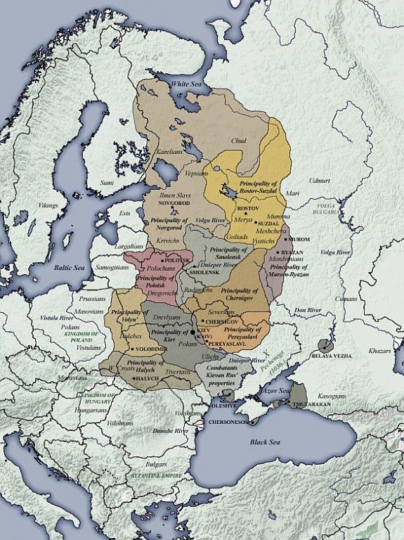 Foto: Knížectví Kyjevské Rusi 1054-1132. / Volné dílo