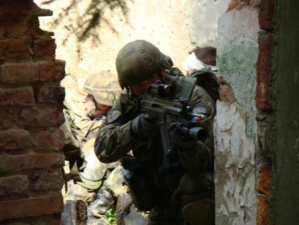 Foto: Komplexní polní cvičení (KPV) 3. strážní roty BAF (3. SR BAF). / TID 3. SR BAF poručice Kristýna Petečuková
