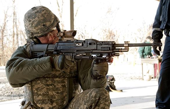 Foto: Kulomet LSAT. Podoba prototypu v roce 2011. / U.S. Army