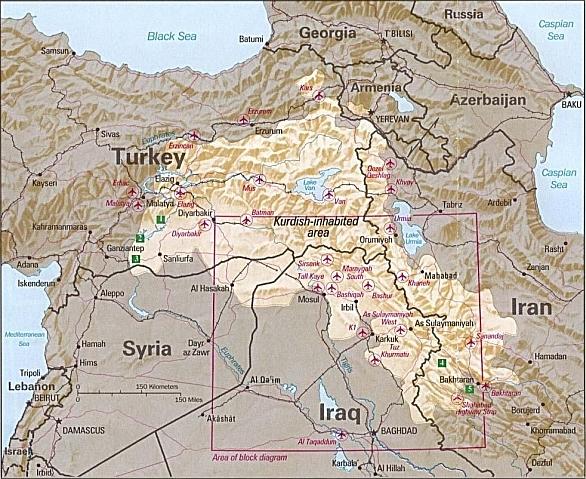 V současné době se pojmem Kurdistán označuje oblast, jež je obydlená většinovou populací Kurdů
