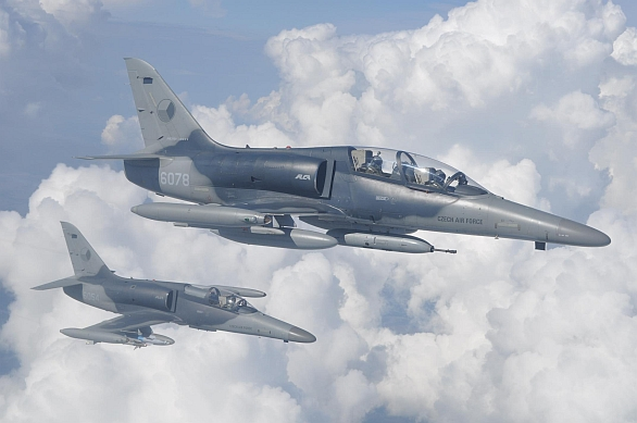 Foto: Formace dvou L-159 ALCA. Větší obrázek. / kpt. Tomáš Maruščák