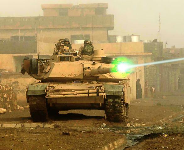 tank laser