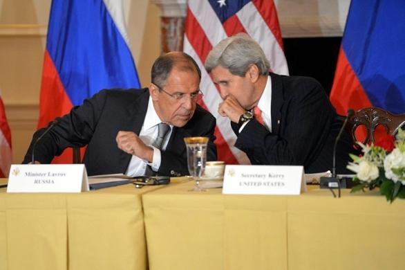 Foto: Americký a ruský ministr zahraničí Kerry a Lavrov; ilustrační foto / Public Domain