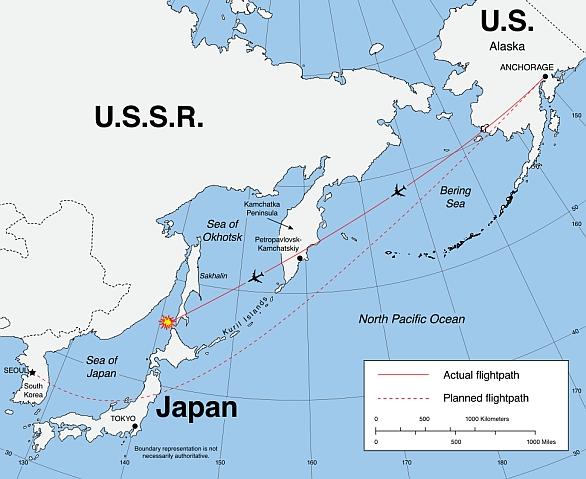 korejský letoun Boeing 747-230 (Flight 007)