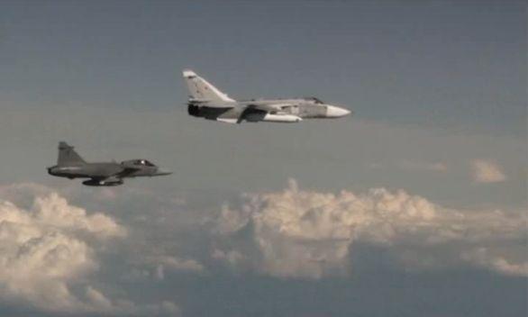 gripen vs ruské letadlo