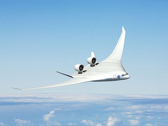 Foto: Na letounech se splývajícím trupem a křídlem pracuje také NASA. / NASA