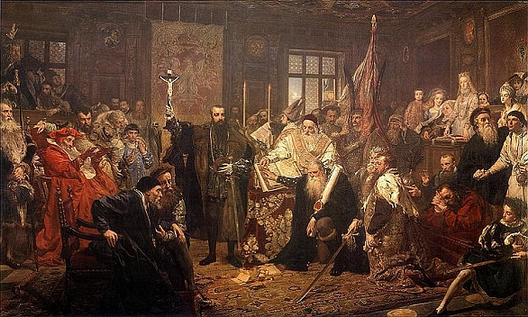 1569 byla v polském Lublinu podepsána smlouva o vzniku Lublinské uniea vznikl Posko-litevský stát